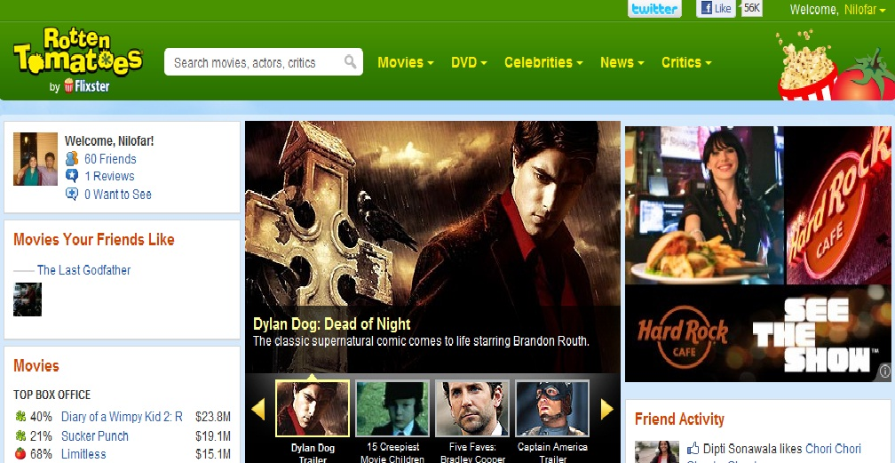 Movie Review Website Rotten Tomatoes