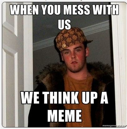 meme do us injustice and we'll 'think up a meme' trail of papercuts