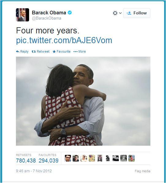 Barack Obama 2008 victory tweet