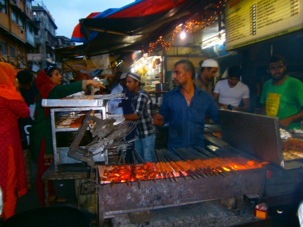 Kebab stall at Mohammed Ali Road