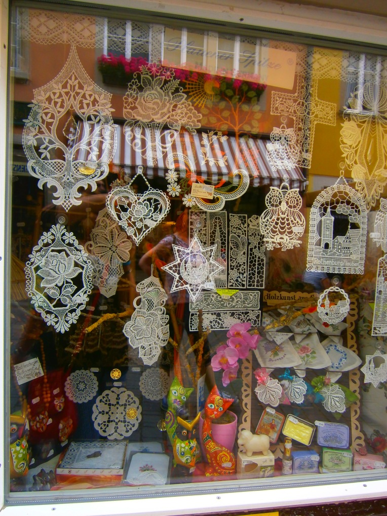 lace shop in Rothenburg